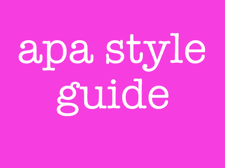 apa referencing style guide 6th edition